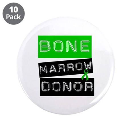 Bone Marrow Donor (Label) 3.5&quot; Button (10 pack)