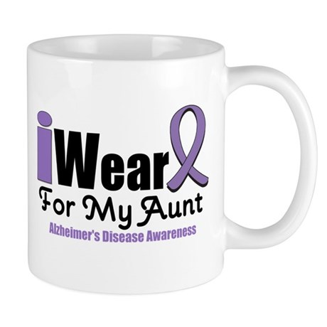 I Wear Purple Aunt Mug