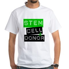 Stem Cell Donor (Label-G) White T-Shirt