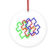 Funny Asperger's awareness Ornament (Round)