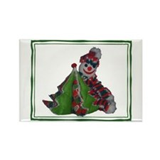 Unique Crochet christmas Rectangle Magnet
