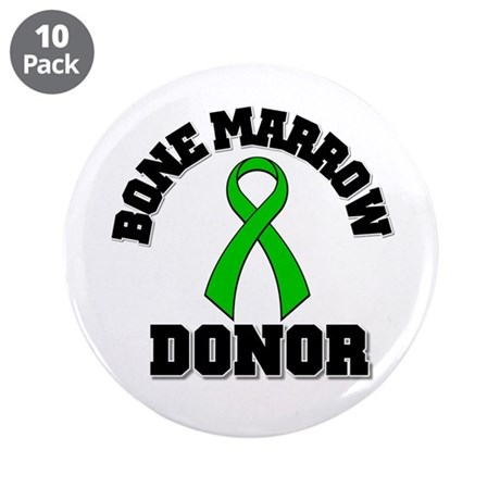 "Bone Marrow Donor Ribbon 3.5"" Button (10 pack)"