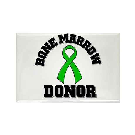 Bone Marrow Donor Ribbon Rectangle Magnet