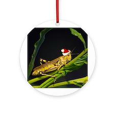 Grasshopper Santa Ornament (Round)