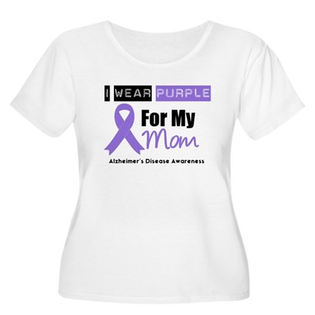 I Wear Purple Mom Women's Plus Size Scoop Neck T-S
