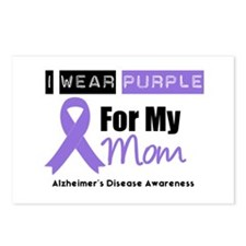I Wear Purple Mom Postcards (Package of 8)