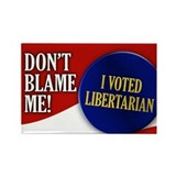 I voted Libertarian Rectangle Magnet (10 pack)