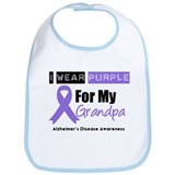 I Wear Purple (Grandpa) Bib