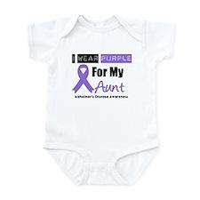 I Wear Purple Aunt Infant Bodysuit