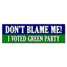 I voted Green Party Bumper Bumper Sticker