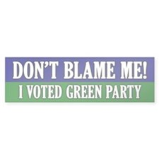 I voted Green Party Bumper Sticker (10 pk)
