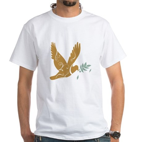 Golden Dove White T-Shirt