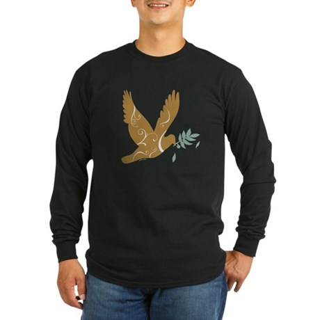 Golden Dove Long Sleeve Dark T-Shirt