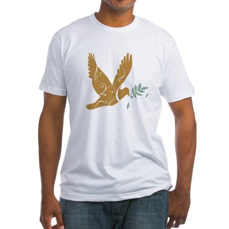 Golden Dove Fitted T-Shirt