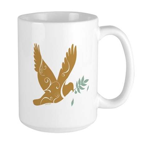 Golden Dove Large Mug