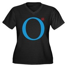 O44 President Obama Women's Plus V-Neck T-Shirt