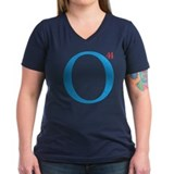 O44 President Obama Women's V-Neck T-Shirt