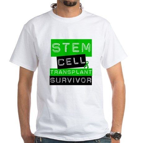 Stem Cell Transplant Survivor White T-Shirt