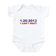 1-20-2008 I Can't Wait! Infant Bodysuit