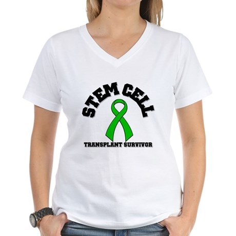 SCT Transplant Survivor Women's V-Neck T-Shirt