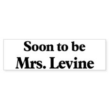 Soon to be Mrs. Levine Bumper Sticker (10 pk)