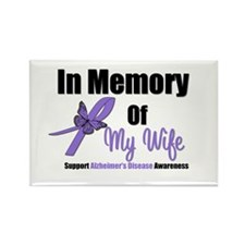 Alzheimer's In Memory Wife Rectangle Magnet (10 pa