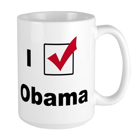 I Voted For Obama Large Mug