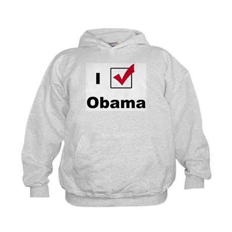 I Voted For Obama Kids Hoodie