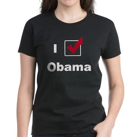 I Voted For Obama Women's Dark T-Shirt