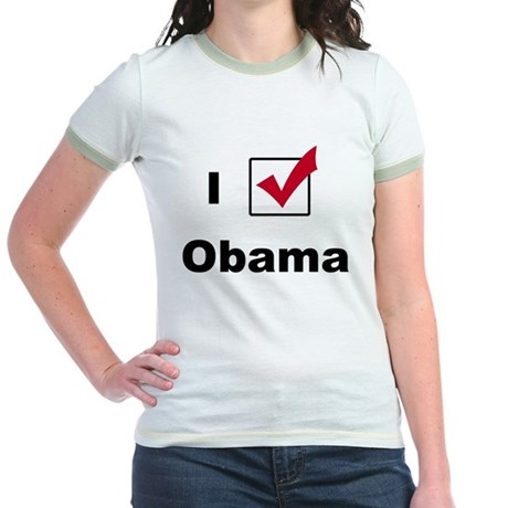 I Voted For Obama Jr. Ringer T-Shirt