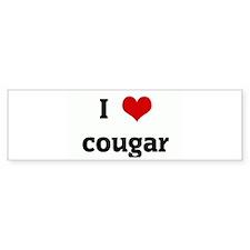 I Love cougar Bumper Sticker (10 pk)