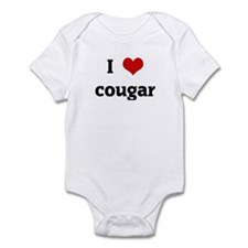 I Love cougar Infant Bodysuit