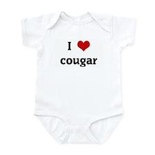 I Love cougar Infant Bodysuit