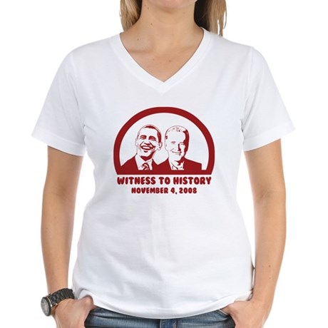 Witness to History Women's V-Neck T-Shirt