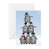 """Penguin Tree"" Greeting Cards (20)"