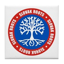 Slovak Roots Tile Coaster