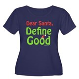 Define Good Santa Women's Plus Size Scoop Neck Dar