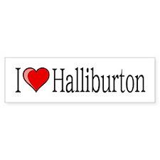 I [heart] Halliburton Car Sticker