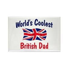 Coolest British Dad Rectangle Magnet (100 pack)
