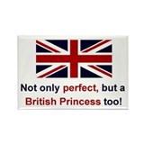 British Perf Princess Rectangle Magnet (100 pack)