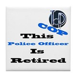 Police Retirement. Tile Coaster