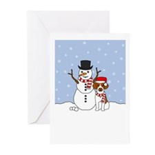 Brittany Howling Holiday Greeting Cards (Pk of 10)