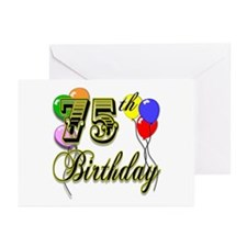 75th Birthday Greeting Cards (Pk of 10)