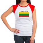 Lithuania Lithuanian Flag Women's Cap Sleeve T-Shi