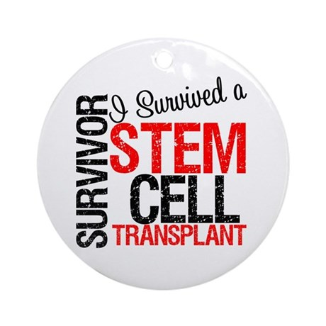 I Survived a Stem Cell Tranplant Ornament (Round)