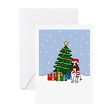 English Springer Christmas Greeting Card