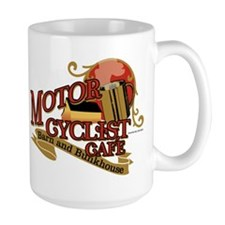 Motorcyclist cafe barn & bunk Mug
