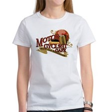 Motorcyclist cafe barn & bunk Tee