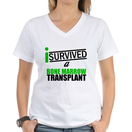 I Survived a Bone Marrow Transplant Women's V-Neck