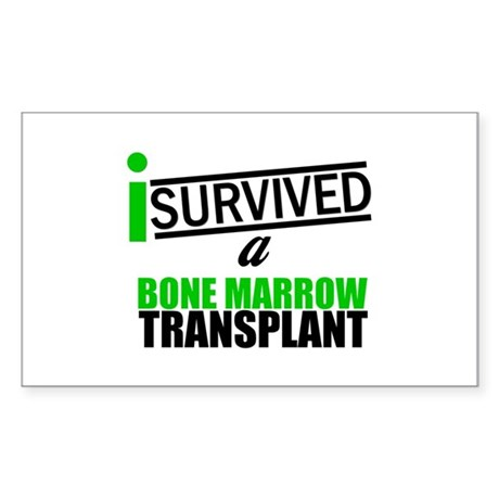 I Survived a Bone Marrow Transplant Sticker (Recta